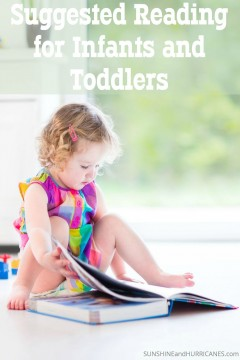Looking for interesting and entertaining first books for your infant or toddler? There are some fabulous classics as well as many newer books that will inspire a love for reading in even the youngest children. Suggested Reading for Infants and Toddlers. SunshineandHurricanes.com