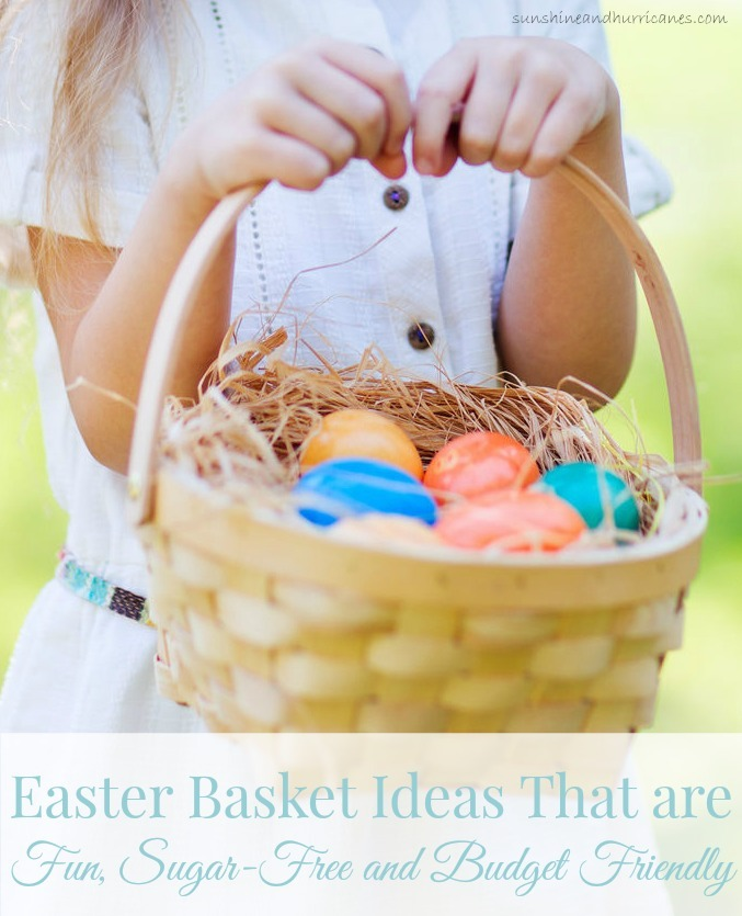 Are you tired of the candy coma that comes after all these sugar filled holidays? Looking for some non-candy ideas for your children's Easter Basket? Here you'll find a great list with fun, sugar-free and budget friendly Easter Basket Ideas that you and the kids will both love! sunshineandhurricanes.com
