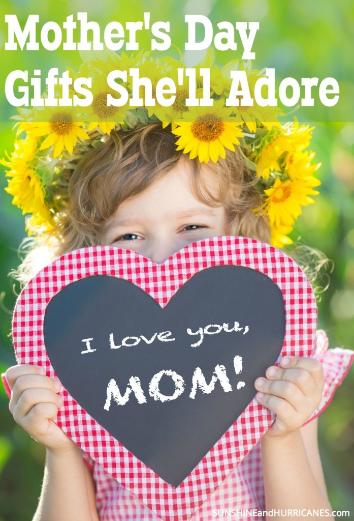 Looking for the perfect Mother's Day gift? Maybe you just want to give your husband and kids a few hints as to something you might like.?? We've got ideas you will love to give AND love to receive. Unique, heartfelt and fun there is something for everyone. Mother's Day Gifts She'll Adore. SunshineandHurricanes.com
