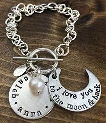 Mother's Day Gifts She'll Adore - The Vintage Pearl Handstamped Jewelry. SunshineandHurricanes.com