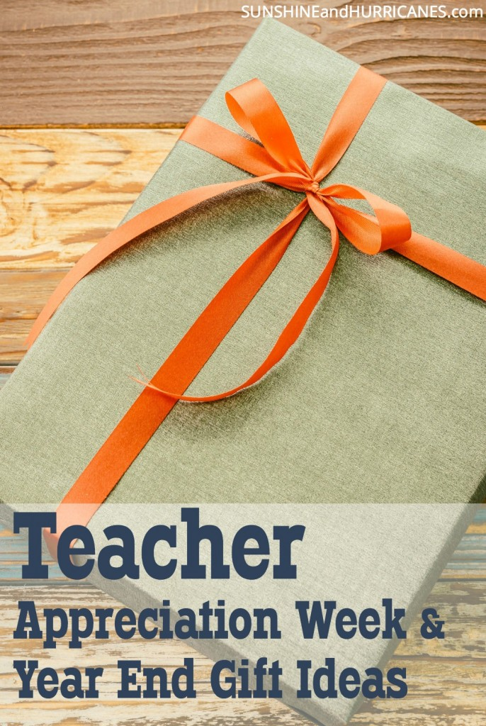 Looking for just the perfect gift to show your child's teacher how much they are valued? Gifts don't have to cost a lot of money or take a lot of time to be meaningful. We've got plenty of ideas to help you with just the right teacher gift for any occasions. Teacher Appreciation Week & Year End Gift Ideas. SunshineandHurricanes.com