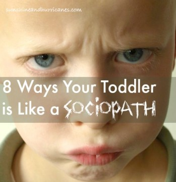 No It's Not Your Imagination. 8 Ways Your Toddler is Like a Sociopath. Parenting Humor - sunshineandhurricanes.com
