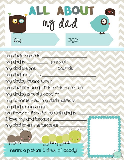 image regarding Dad Questionnaire Printable identified as Fathers Working day Printable Spherical Up