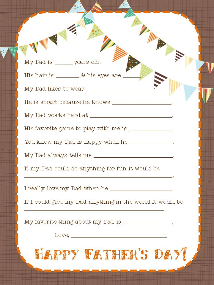 graphic about Father's Day Questionnaire Printable titled Fathers Working day Printable Spherical Up