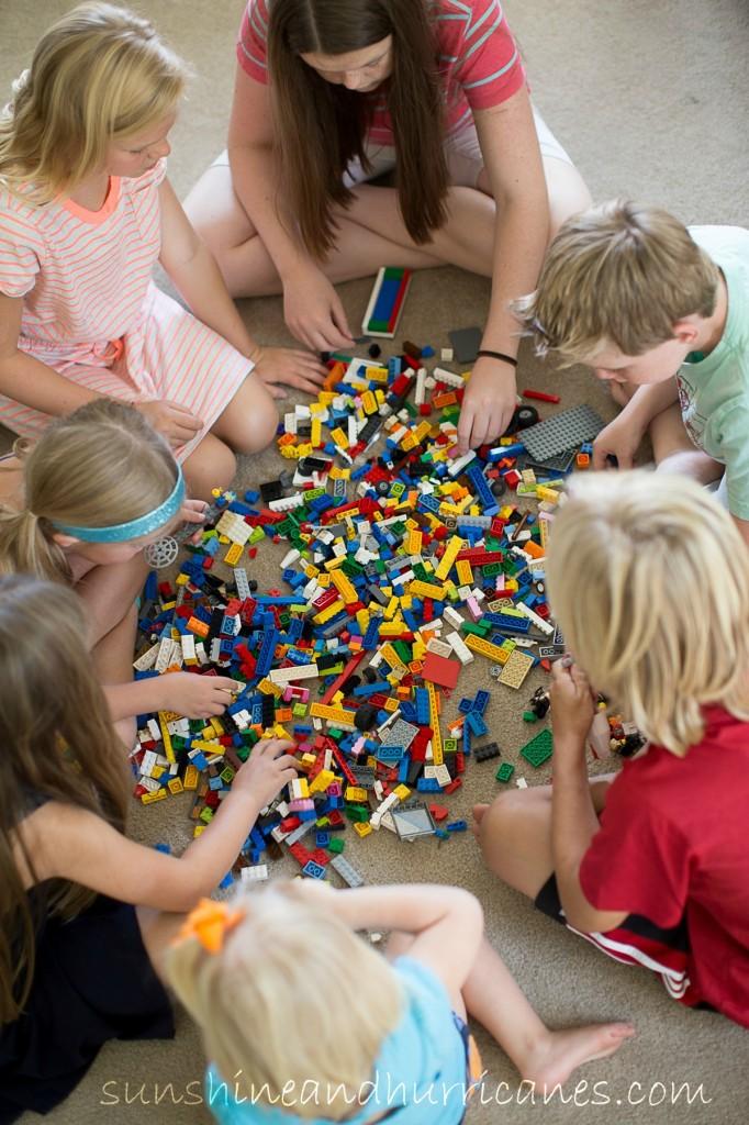 Let's Get Crazy with Legos - Lego Challenge at sunshinesandhurricane.com Lego Camp