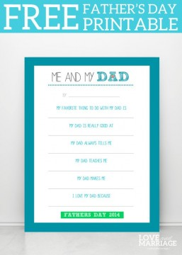 Father's Day Printable RoundUp SunshineandHurricanes.com
