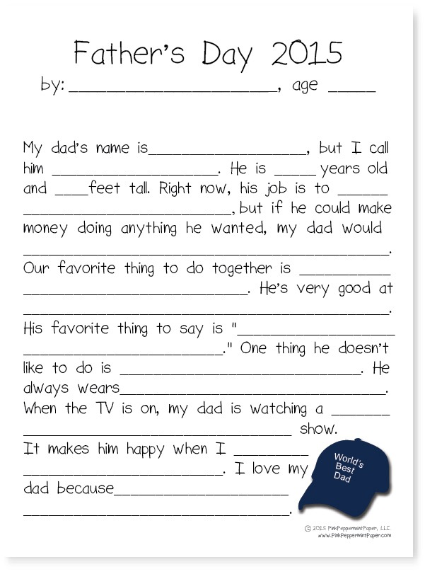 Father S Day Printable Round Up