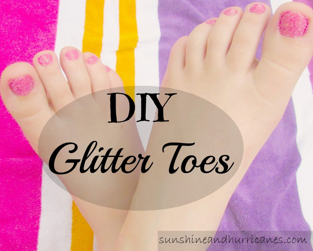 DIY Glitter Toes - A quick and easy how to for creating sparkly and stylish nail polish looks for little girls and big girls that will last for weeks.