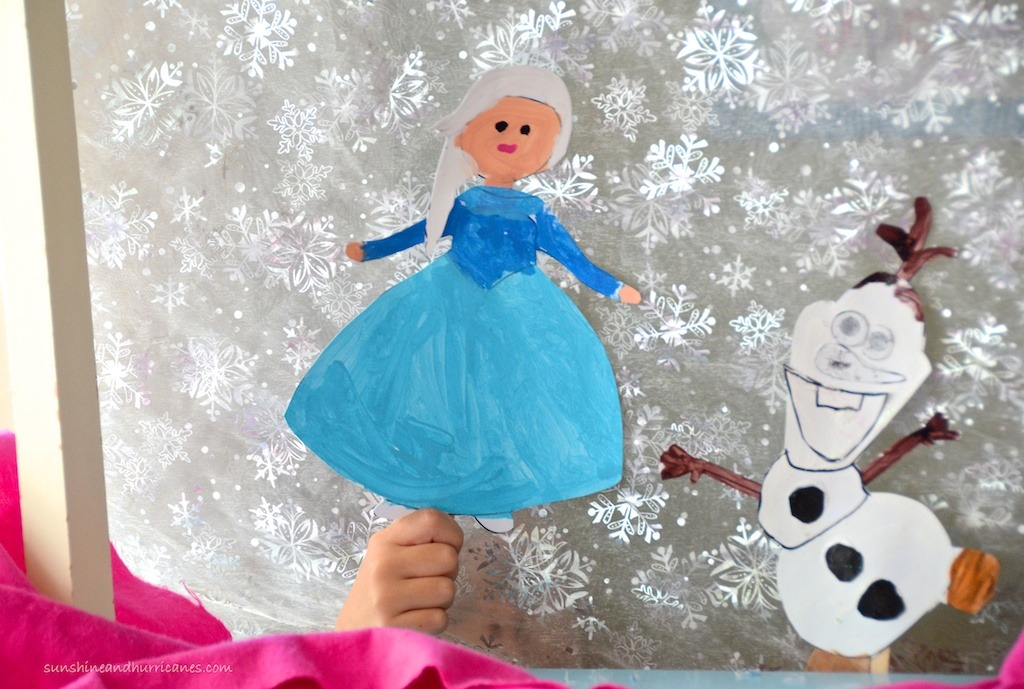 Paint Your Own Frozen Puppets