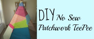 DIY No Sew Patchwork TeePee