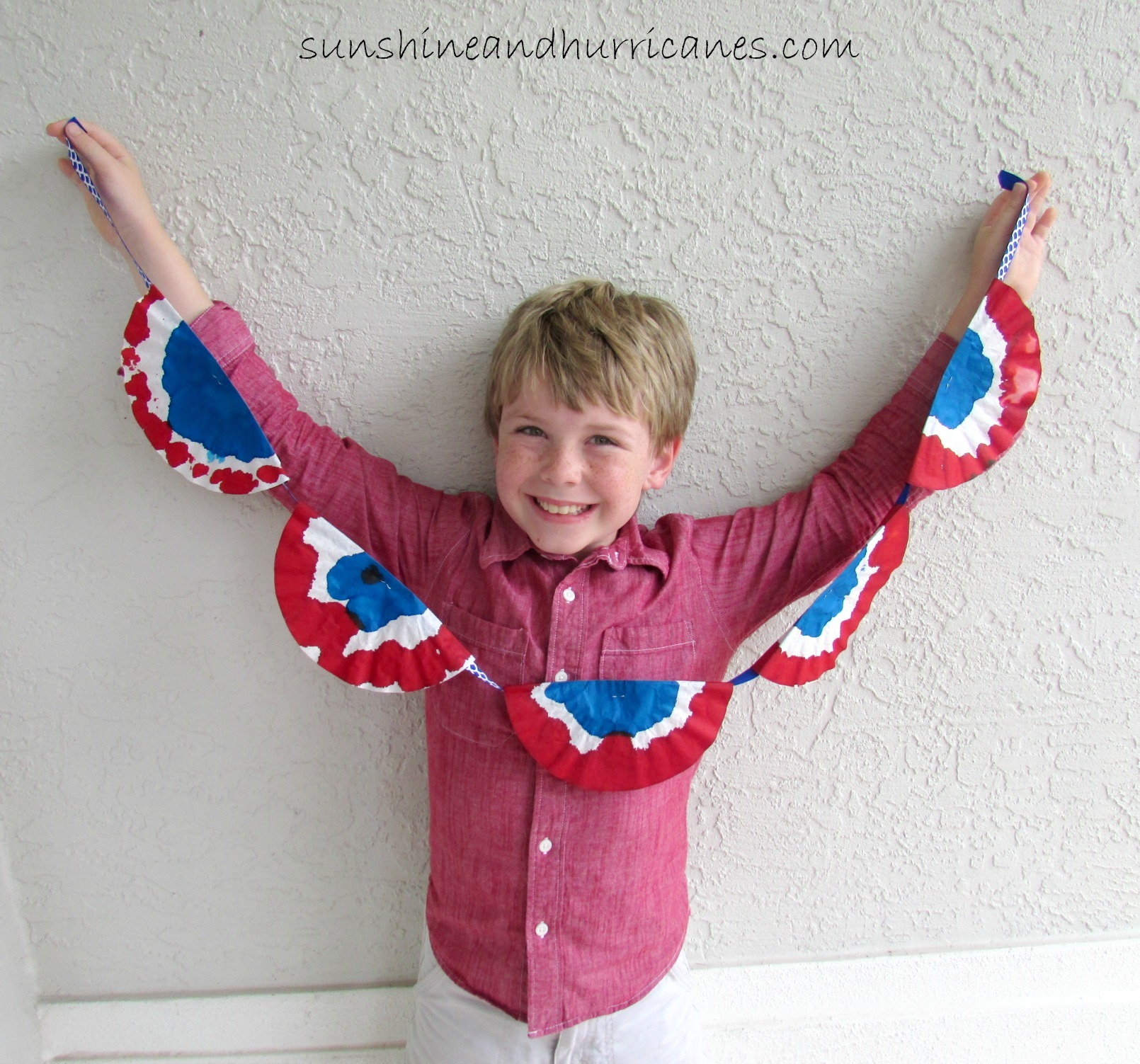 Kids DIY Patriotic Bunting