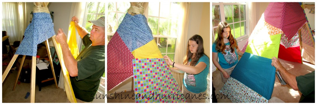 No Sew Patchwork Teepee DIY