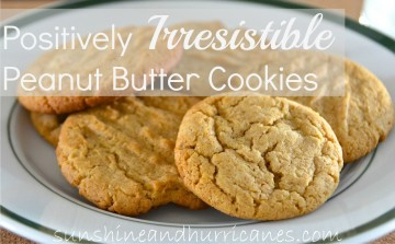 Positively Irresistible Peanut Butter Cookies at sunshineandhurricanes.com
