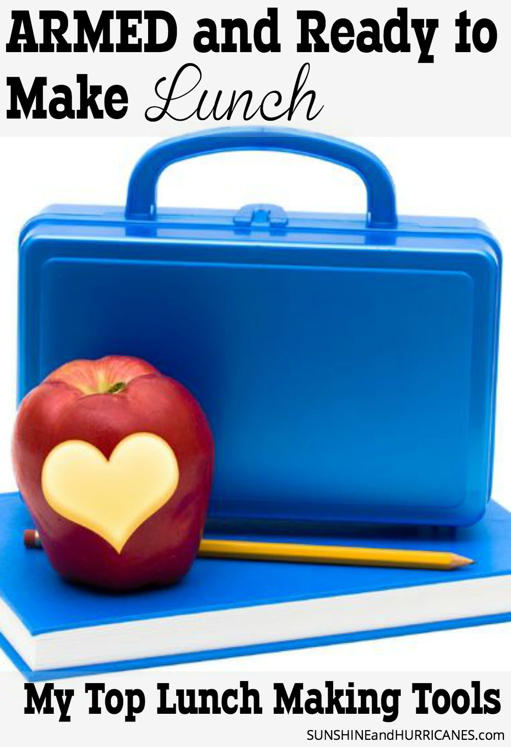 Looking for an easier way to get school lunches made? Here you will find all the tools I use for creating healthy, but quick and easy school lunches that my kids actually like and without creating a ton of waste with disposable bags. You can actually save money and time with reusable containers and a few other school lunch tools that will take the stress out of making lunch. Armed and Ready to Make School Lunches. SunshineandHurricanes.com