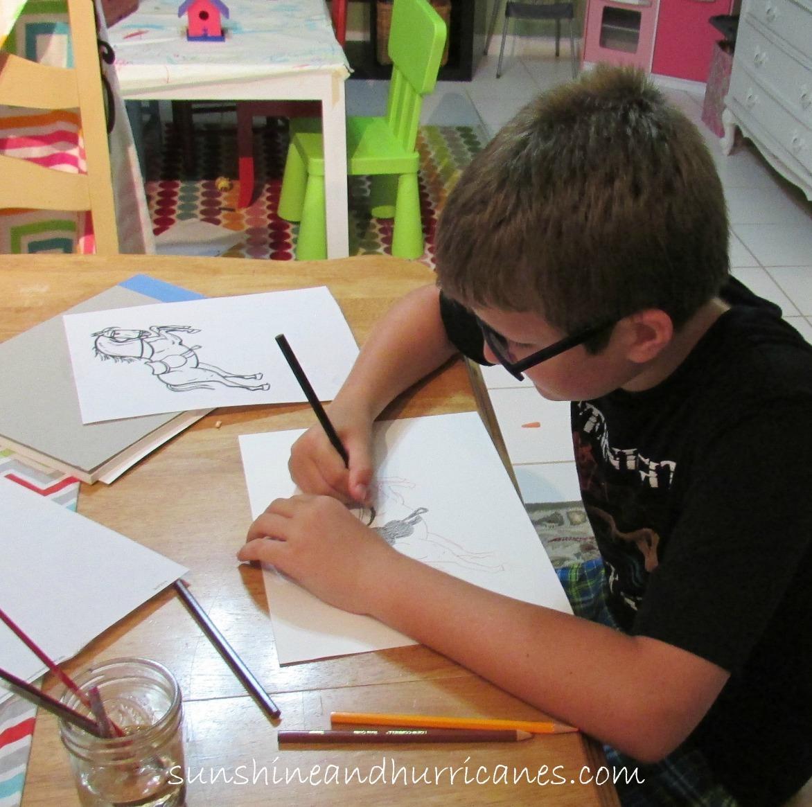 Watercolor Pencil DIY With Kids
