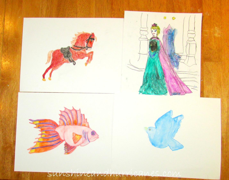 Watercolor pencil diy