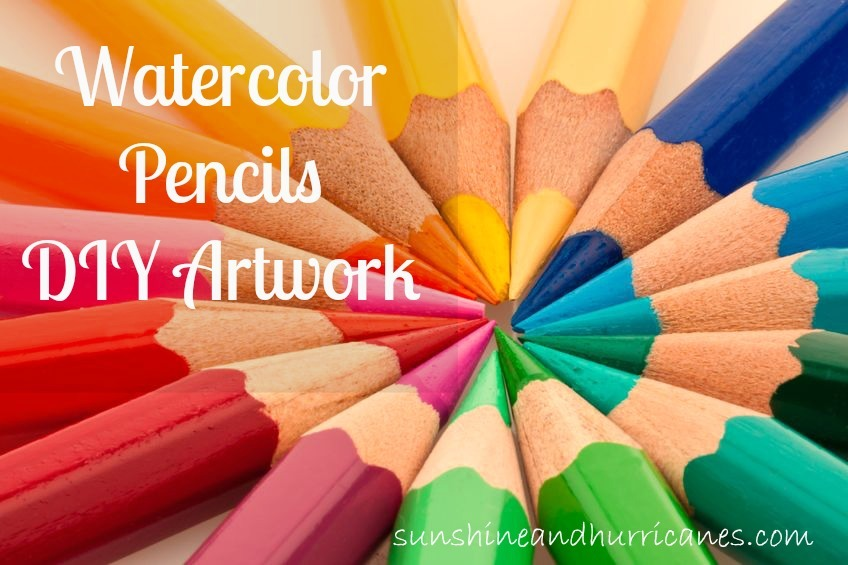 One of our favorite ways to get creative is with watercolors because they're so simple to use and low on the mess factor.  Check out this fun technique to help kids explore watercolor pencils and create beautiful paintings.