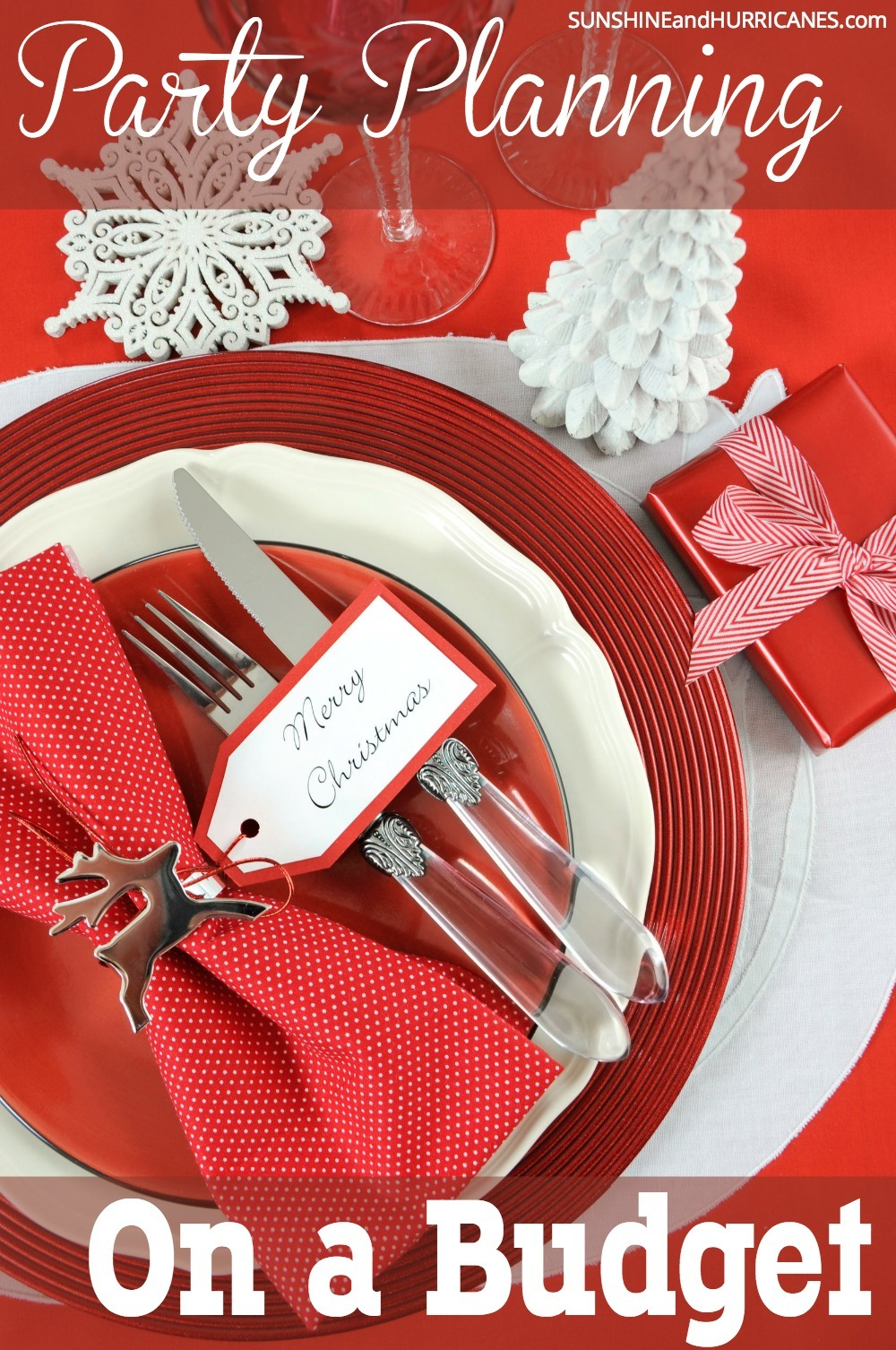 Whether you want to host an intimate gathering, a large family feast or an elegant evening you can wow everyone with your party planning skills without busting your budget. There are plenty of tips and tricks to help you save without losing out on any of the festive feel. We'll help with Party Planning on a Budget that will still look like you spared no expense. SunshineandHurricanes.com