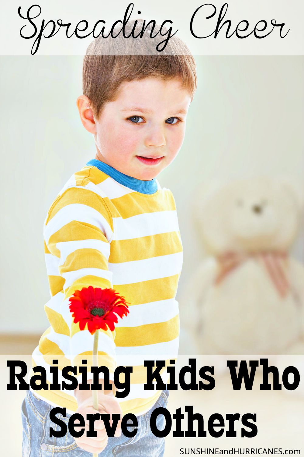 Do you want to raise children who are passionate about making the world a better place? Do you want them to have a heart for helping others? There are many ways we can instill these values in our children that can even be fun. Learn about Raising Kids Who Serve Others; Spreading Cheer. SunshineandHurricanes.com