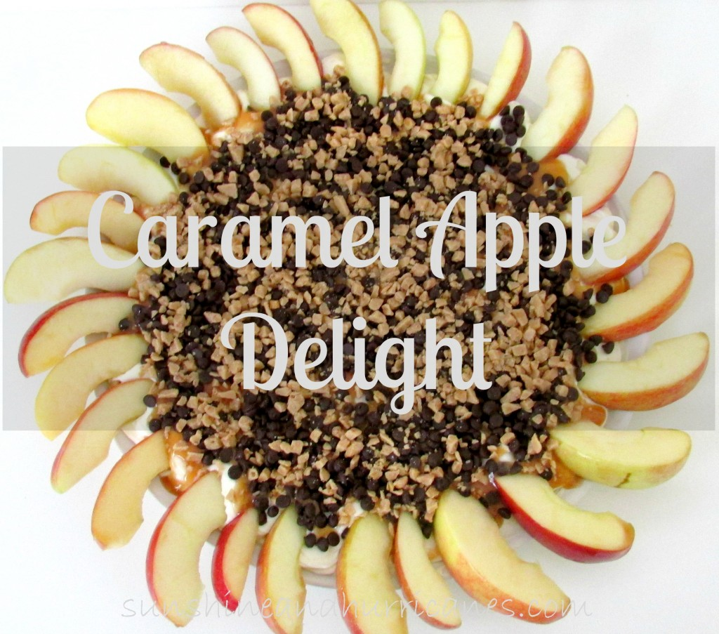 Caramel Apple Delight is a simple dessert, perfect for Fall and potluck dinners or suppers. This easy dish is delicious and can be made in 15 minutes!