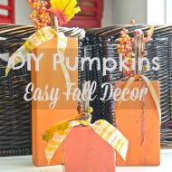 DIY 2×4 Pumpkins