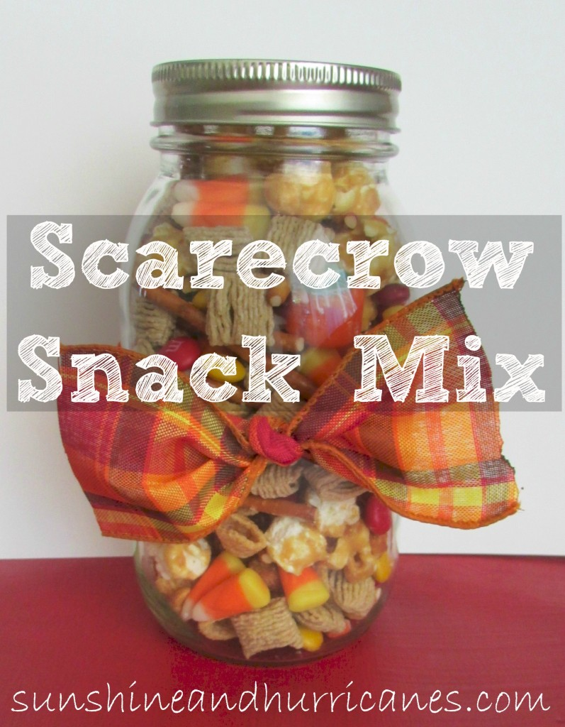 Scarecrow snack mix is a simple and festive Fall treat. Perfect for parties, family gatherings, or just a fun snack!