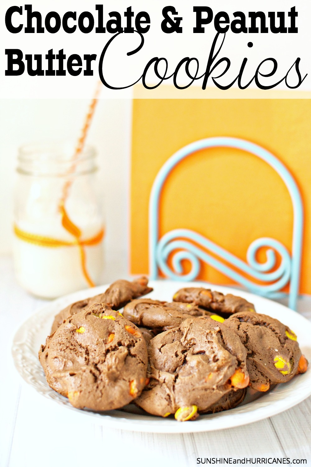 Do you love chocolate? Do you love peanut butter? Do you love them even more together? Then these super easy and quick peanut butter chocolate cookies are just for you! Totally addicting and even better with a tall glass of milk, this cookie recipe is a keeper!