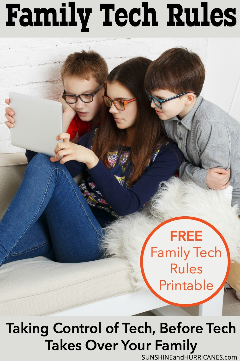 Do you feel like you're losing your family to technology? Then it's about time to set some family technology rules. You can do it and here's how to get started. Free Family Tech Rules Printable Included.