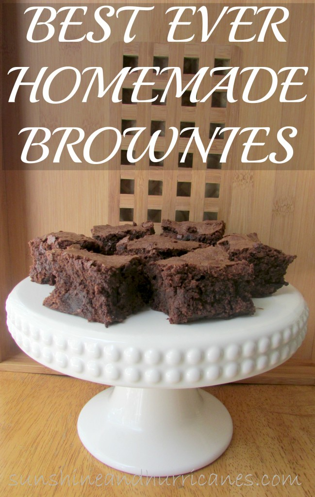 These Best Ever Homemade Brownies are delicious and simple to make. The chocolate flavor is outstanding and memorable.