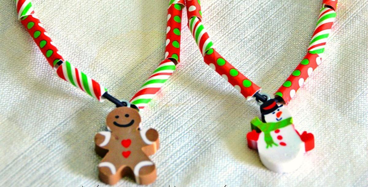 DIY Kids Christmas Necklace Craft