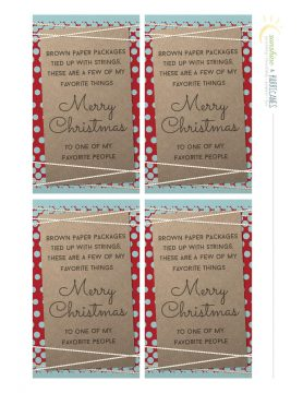 Give a Gift of Your Favorite Things Printable Gift Tags