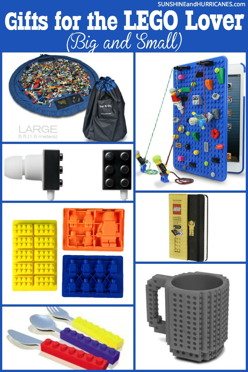 Looking for the perfect lego gifts for your lego lover. Whether they are little fans or all grown-up there are so many great options that you can buy or DIY. SunshineandHurricanes.com