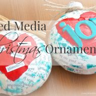 Mixed Media Christmas Ornaments