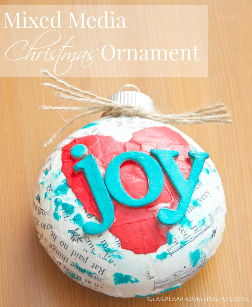 Want a unique Christmas tree ornament?  Make this Mixed Media Christmas Tree Ornament as a keepsake for your family!