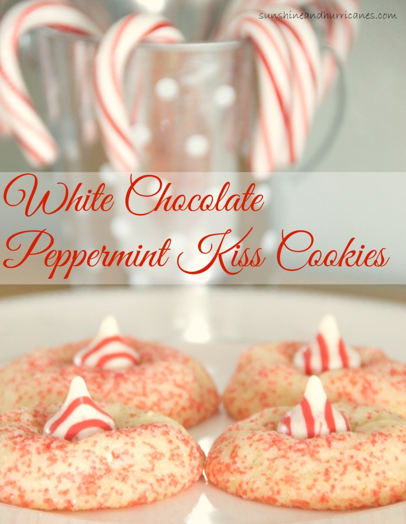 Looking for an irresistible Christmas cookie recipe to add a little something sweet to your holiday season? These White Chocolate Peppermint Kiss Cookies are so good, you'll never be able to eat just one.