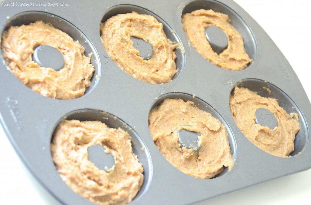 Baked Eggnog Donuts with Eggnog Glaze