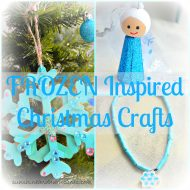 Frozen Inspired Christmas Crafts