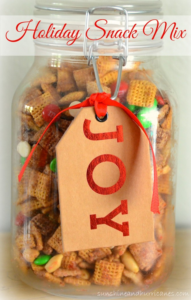 Get this delicious recipe for an Easy Holiday Snack Mix!  Just the right mix of salty and sweet to make it perfect for holiday parties and other get togethers.