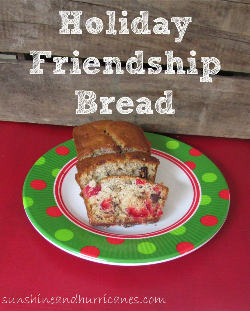 Holiday Friendship Bread is a great gift for friends, neighbors, and co workers. Baking this treat will become a fun Christmas tradition.