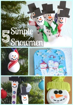 5 Simple Snowmen Crafts