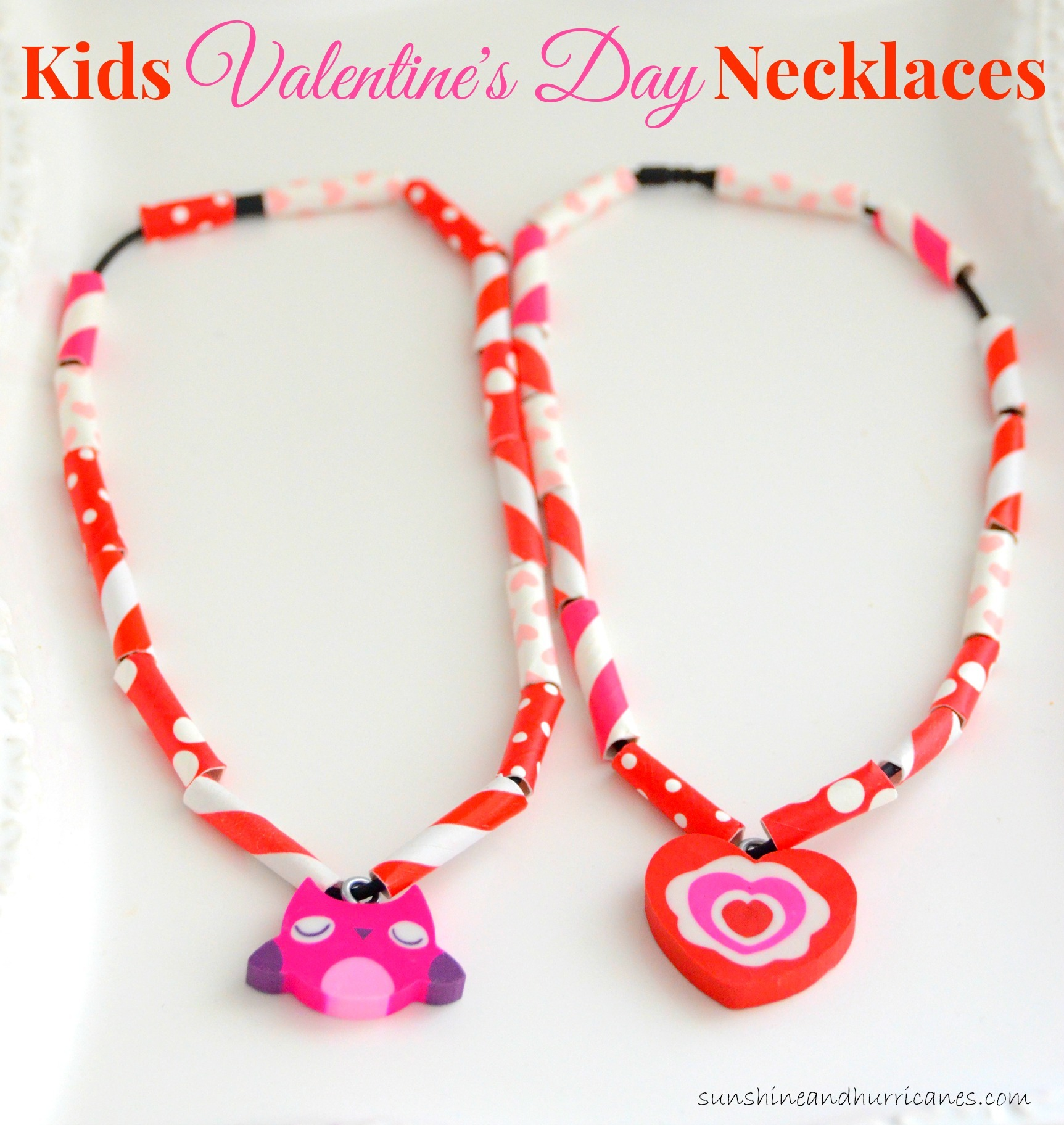 Whether you want a quick Valentine's Craft to do at home with the kiddos or a project for a class Valentine's Day project, these Easy Kids Valentine's Day necklaces are perfect. Budget friendly and easy to make, they are sure to be a hit with the kids!