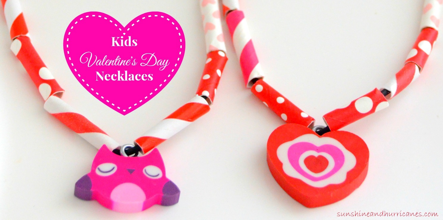 Easy kids valentine 39 s day necklaces for Valentine crafts for kindergarteners