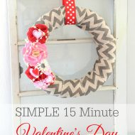 Simple 15 Minute Valentine's Day Wreath