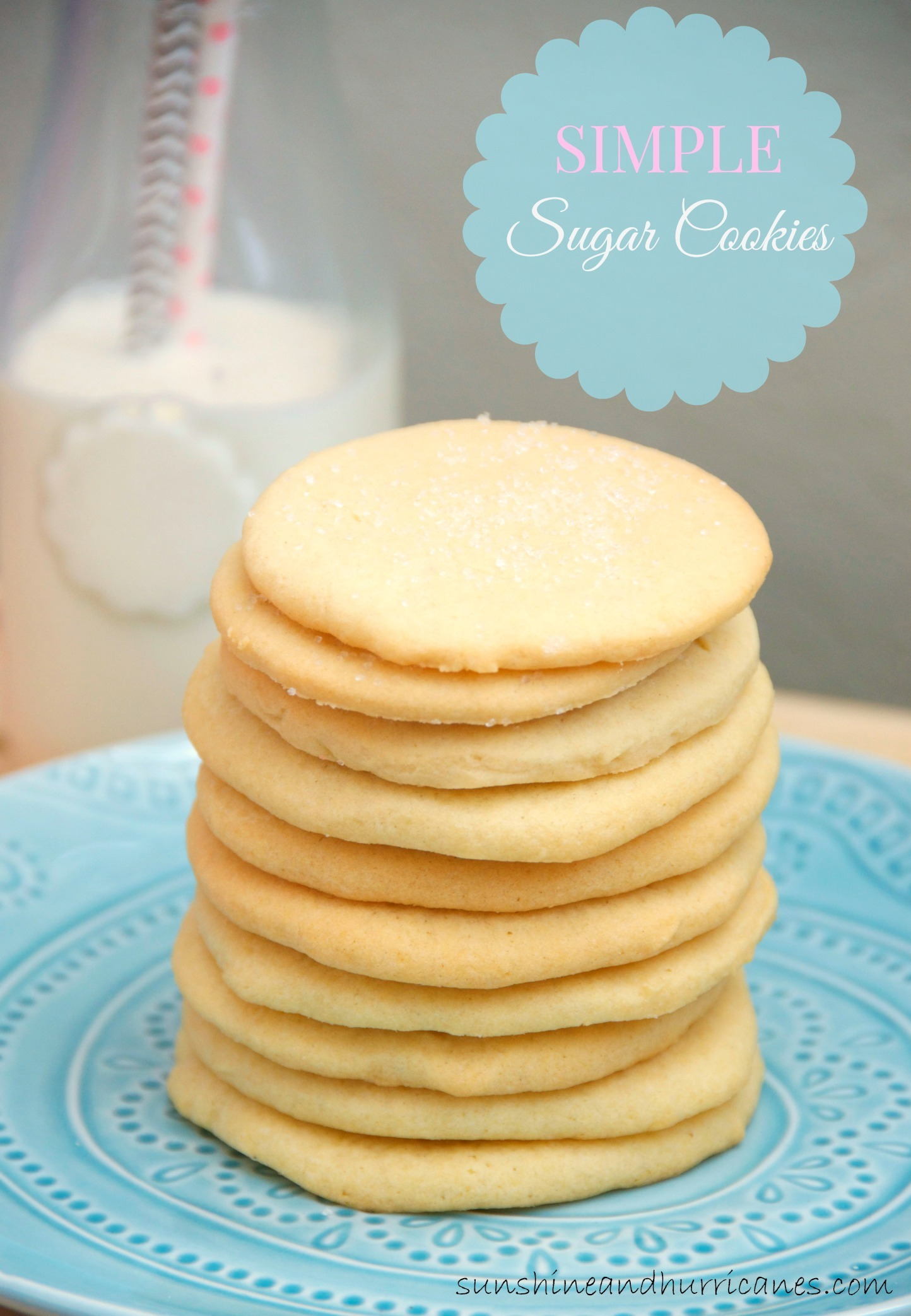 Looking for an Easy Cookie Recipe, that is Great for any Occasion. This Simple Sugar Cookies Make Excellent Cut-Outs or A Sweet Snack for Any Day. A Favorite Traditional Cooke Recipe that You'll Always Want to Keep On Hand.