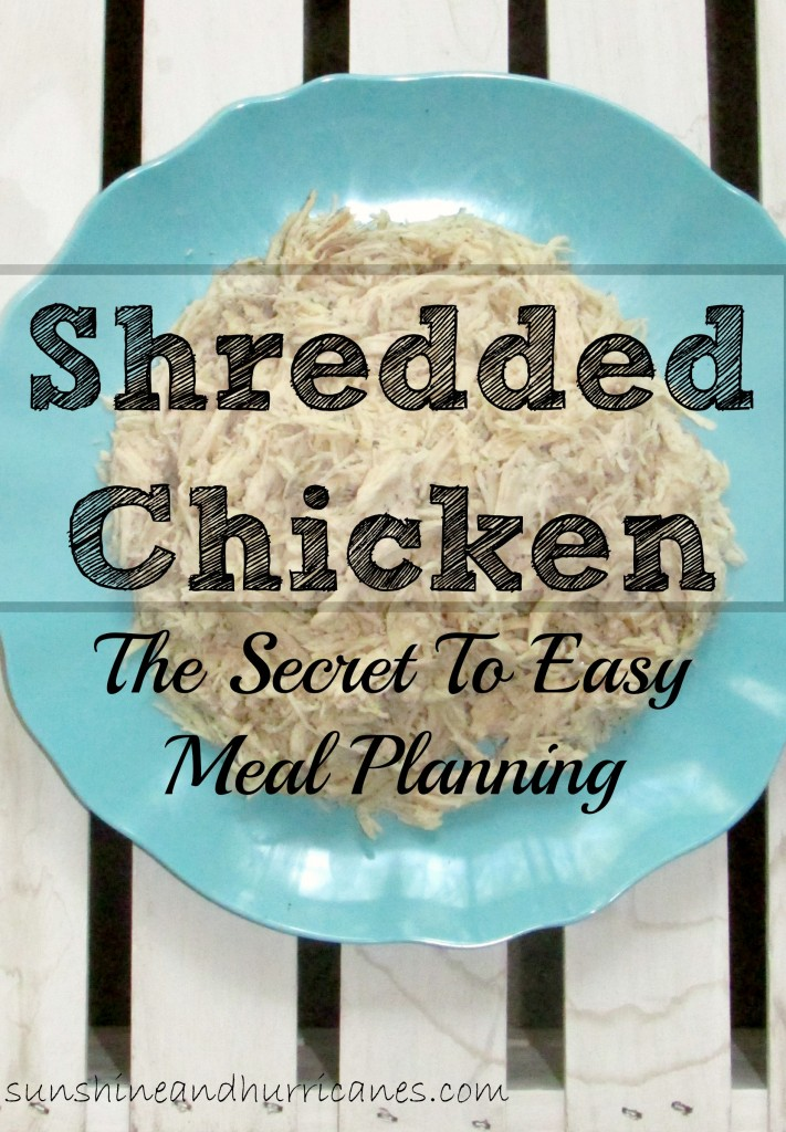 Shredded chicken is a staple in meal planning and helps get dinner on the table fast. This chicken can be used in tons of recipes in a variety of ways.