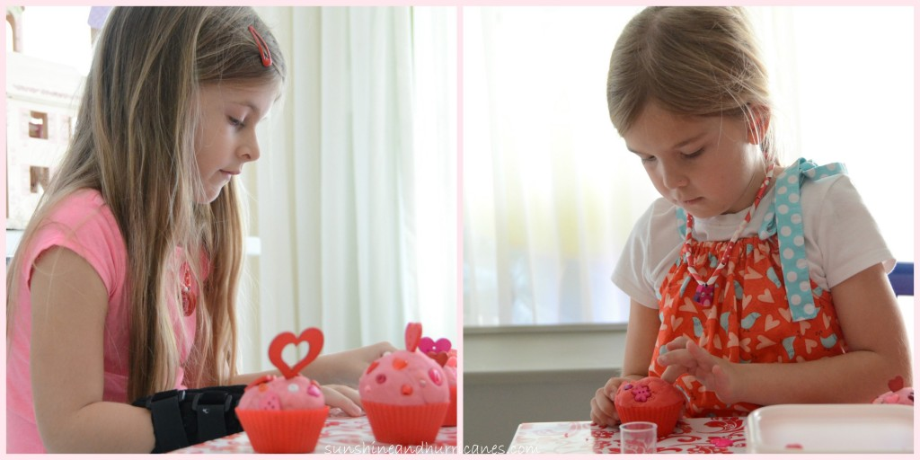 Valentine's Cupcake Playdough