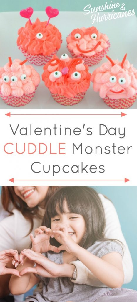 Valentines' Day Cupcakes - Cuddle Monsters