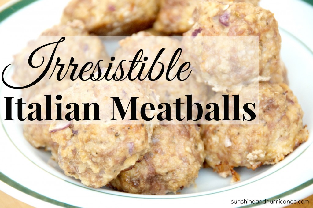 Irresistible Italian Meatballs FB