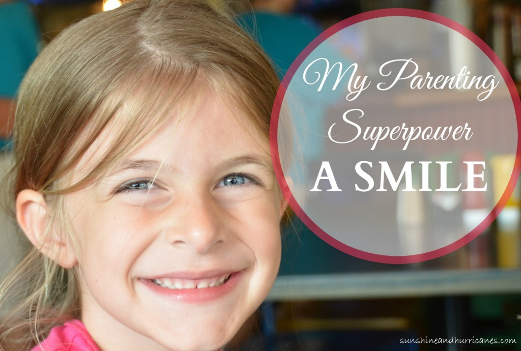 You Don't Have to Be a SuperMom to Unlock Your Parenting Secret Superpower. It's Simple, It's Your Smile. sunshineandhurricanes.com