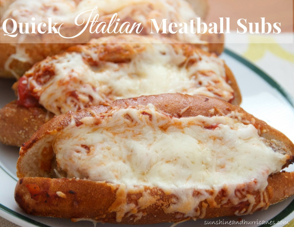Looking for a fast dinner on a busy night? This Quick Italian Meatball Subs Recipe is just the answer to your meal dilemma. sunshineandhurricanes.com